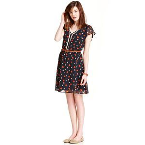 ❤️ Maison Jules Heart Print Flutter Dress